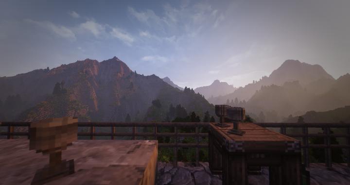 A fine evening on a dwarven balcony