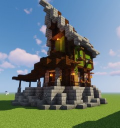 Medieval Survival House Minecraft Map & Project