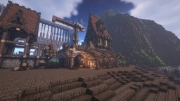 Aynor harbour Headquarters/master storehouse(harbour sneak peak) #weareconquest Minecraft Map & Project