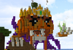 The Pumpkeleton King Minecraft Map & Project
