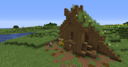 Viking House + Tutorial Minecraft Map & Project
