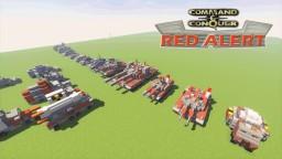 C&C Red Alert Units Bundle Minecraft Map & Project