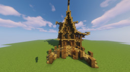 Fantasy House 3 (Wood and stone) Minecraft Map & Project