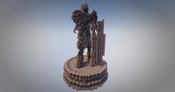 Dark Souls: Yhorm the Giant statue Minecraft Map & Project