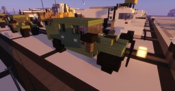 """1.5:1 Scale, 3 blocks wide. Military Green Humvee """" Hummers """" Minecraft Map & Project"""