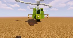 Small Apache Military Helicopter Minecraft Map & Project