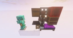 | 1.14.4 |  Cheap 1 Wide Tileable Villager Trading Hall Minecraft Map & Project