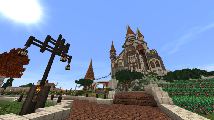 Popular Server Project : The Castle Of Algheriai (European/Fantasy Style Castle) [Server Build]