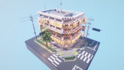 Realistic Korean Commercial Building Minecraft Map & Project