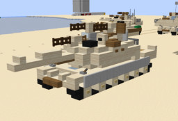1.5:1 M1A2 Abrams Minecraft Map & Project
