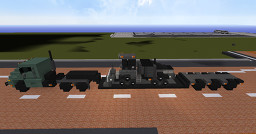 1.75:1 Scale  Military Oshkosh MTVR & Black Lowboy, And John Deere 764 HSD High Speed Dozer Minecraft Map & Project