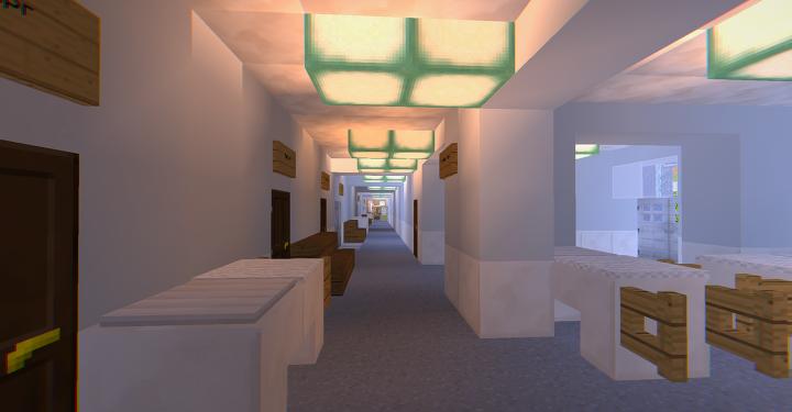 Burn centre's interior
