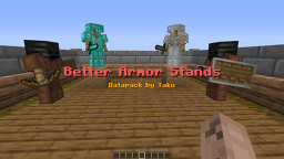 Better Armor Stand Datapack by Taku Minecraft Data Pack