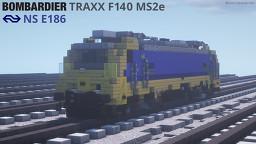 [1.5:1] Nederlandse Spoorwegen E186 / Bombardier TRAXX F140 MS2e Minecraft Map & Project