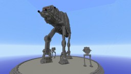 AT-ST (All Terrain Scout Transport) & AT-AT (All Terrain Armored Transport) Minecraft Map & Project