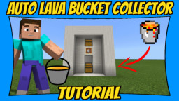 Automatic Lava Bucket Collector Minecraft Map & Project