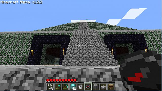 The obsidian gates defend the temple's entrance.