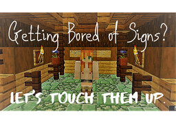 Touching Up Signs w/ Paintings Minecraft Blog