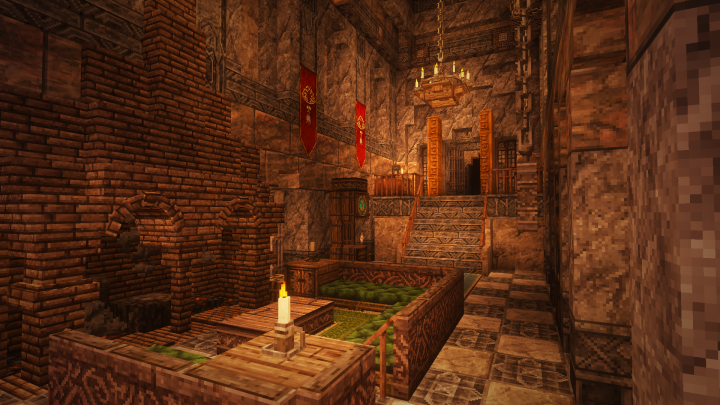 The homes of rich dwarves can be particularly cosy...