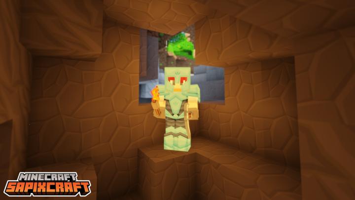 diamond armor in a cave