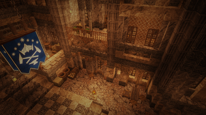 Many of the dwarves live in old mining tunnels that have been carved into streets and houses