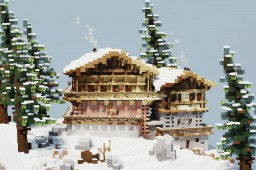 Alpine chalet Minecraft Map & Project