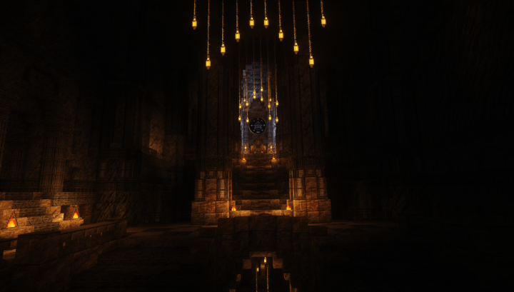 The high hall of the Lord of the Blue Mountains, who swears fealty to the King under the Mountain, many leagues away