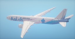 Boeing 777-300ER 5x scale Minecraft Map & Project