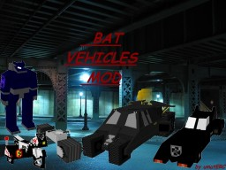BAT-VEHICLES mod v0.3 Minecraft Mod