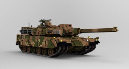 K2 Black Panther (10:1 scale) Minecraft Map & Project