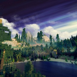 1280*2560 Terrain attempted Bob Ross Painting in Minecraft Minecraft Map & Project