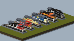 GE Dash-9 diesel locomotive [With Download] Minecraft Map & Project