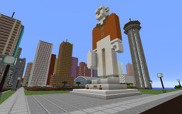 Monuments and Statues in Canyon City Minecraft Map & Project