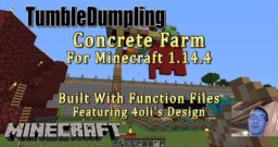 Concrete Farm for Minecraft 1.14.4 (Uses Function Files) Minecraft Map & Project