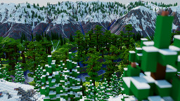 Jungle River Valley Custom Terrain Minecraft Map & Project