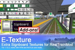 [RTM Add-ons]E-Texture - Extra Signboard Textures for RealTrainMod Minecraft Mod