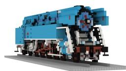 ČSD 477.043 papoušek | 5:1 Steam Locomotive Minecraft Map & Project