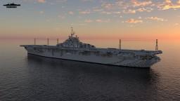 USS Yorktown CV-10 1:1 Essex class Minecraft Map & Project