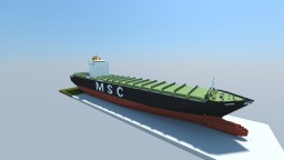 MSC Dymphna (1:1 Scale Container Ship) Minecraft Map & Project