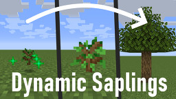 SAPLINGS PLANT THEMSELVES!   Dynamic Saplings Data Pack Minecraft Data Pack