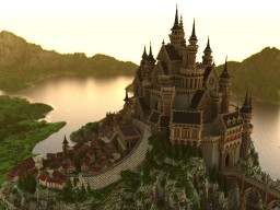 Castle dyed in the morning glow Minecraft Map & Project