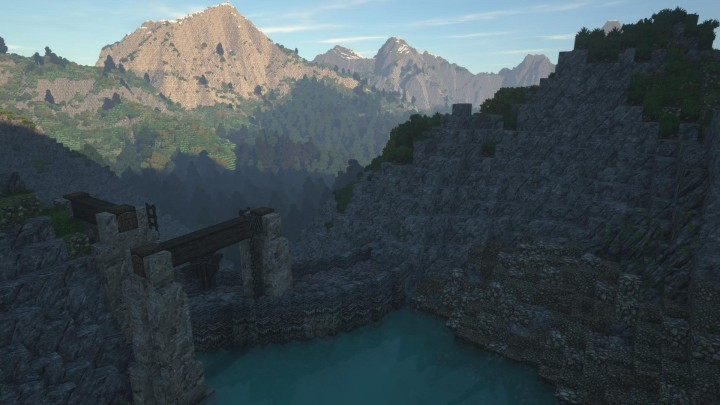 Forge-hot axe and tired dwarf alike are quenched by water held in dams on the mountainside
