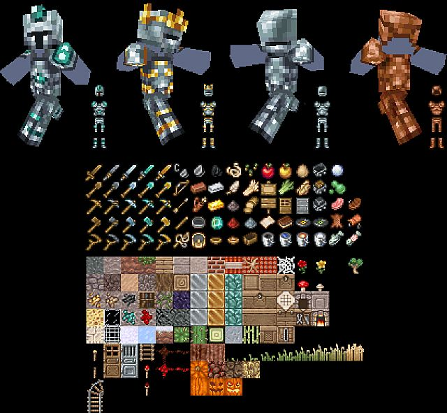 New detailed armor and items