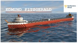 SS EDMUND FITZGERALD [FULL INTERIOR] Minecraft Map & Project