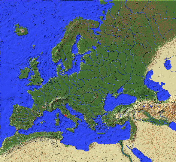 The map from worldpainter