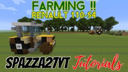 Renault 110-54 - Tractor Minecraft Map & Project
