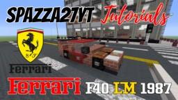 Ferrari F40 LM 1987 Minecraft Map & Project