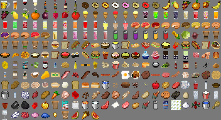 All Food Items and ingredients