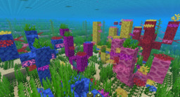 Coral Reef Pack - 15 Different Overgrown Coral Reef Formations - Minecraft 1.14 Minecraft Map & Project