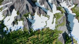 Glacier Mountain Custom Terrain Minecraft Map & Project